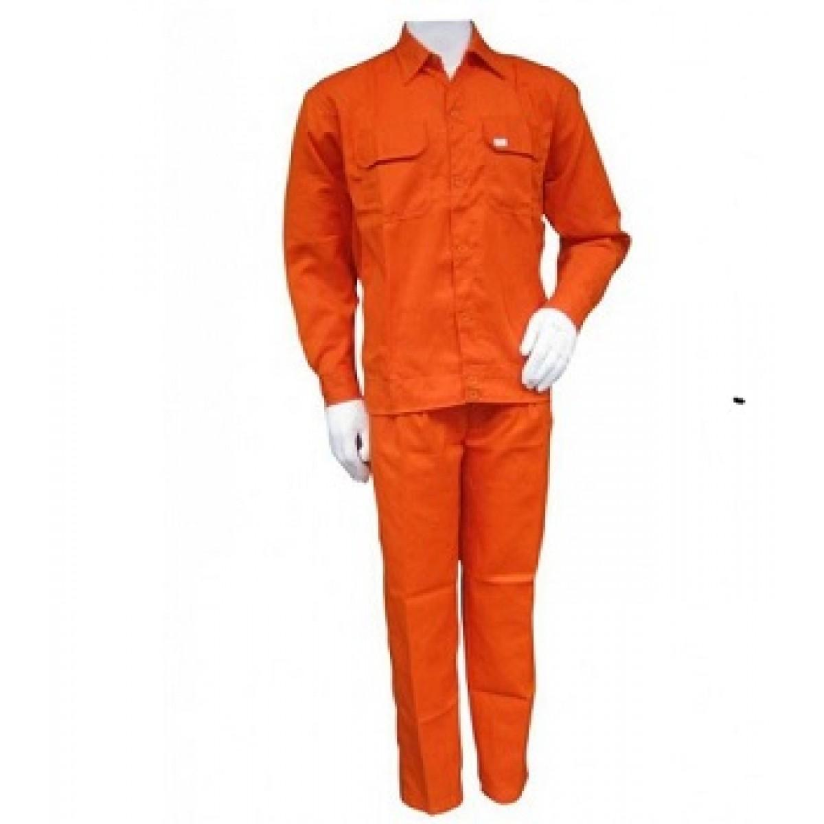 Quần áo bảo hộ lao động Kaky màu cam