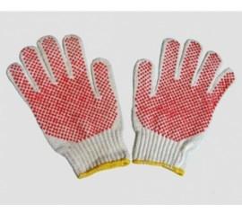 Găng tay len chấm hạt nhựa