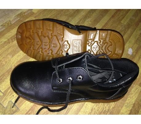 Giày da bảo hộ lao động đế cao su ABC