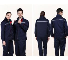 Đồng phục công nhân xanh đen may phản quang
