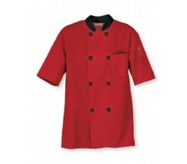 Áo bếp kaky màu đỏ